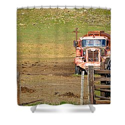 Old Pump Truck Shower Curtain