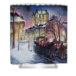 old Quebec Shower Curtain