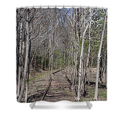 Old Rails Shower Curtain