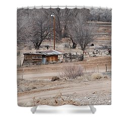 Old Ranch House Shower Curtain by Rob Hans