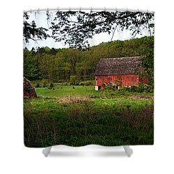 Old Red Barn 2 Shower Curtain