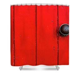 Old Red Door  Shower Curtain