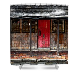 Old Red Door Shower Curtain by Christopher Holmes