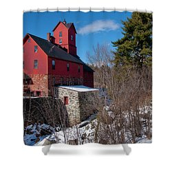 Shower Curtain featuring the photograph Old Red Mill - Jericho, Vt. by Joann Vitali