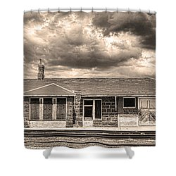 Old Rio Grande Train Stop Shower Curtain by James BO  Insogna