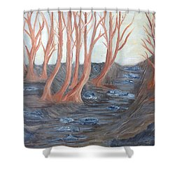 Old Road Through The Trees Shower Curtain