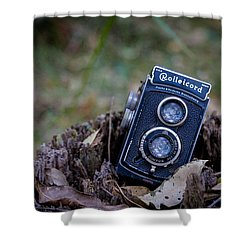Shower Curtain featuring the photograph Old Rollei by Keith Hawley