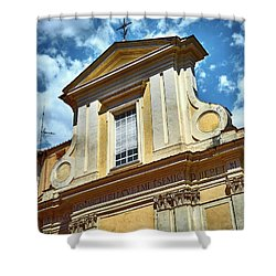 Old Roman Building Shower Curtain