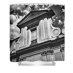 Old Roman Building In Black And White Shower Curtain