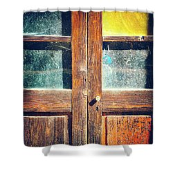 Shower Curtain featuring the photograph Old Rotten Door by Silvia Ganora