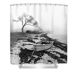 Old Rowing Boat Shower Curtain