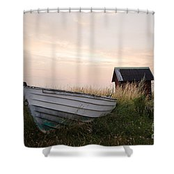 Old Rowing Boat Shower Curtain by Kennerth and Birgitta Kullman