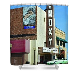 Old Roxy Theater In Muskogee, Oklahoma Shower Curtain