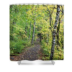 Shower Curtain featuring the photograph Old Rr Right-away by Peter Simmons