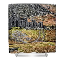 Shower Curtain featuring the photograph Old Ruin At Cwmorthin by Adrian Evans