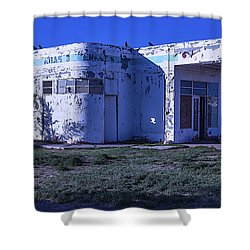 Old Run Down Gas Station Shower Curtain