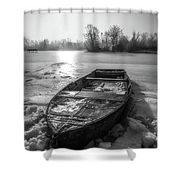 Shower Curtain featuring the photograph Old Rusty Boat by Davorin Mance
