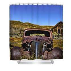 Shower Curtain featuring the photograph Old Rusty by Mitch Shindelbower