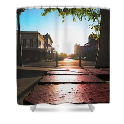 Old Sacramento Smiles- Shower Curtain