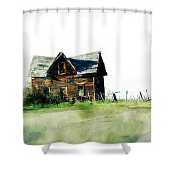 Old Sagging House Shower Curtain