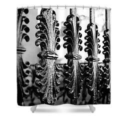 Old Salem Gate Shower Curtain by Corinne Rhode