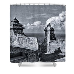 Old San Jaun Fort Shower Curtain