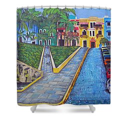 Old San Juan Shower Curtain