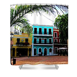 Shower Curtain featuring the photograph Old San Juan Pr by Michelle Dallocchio