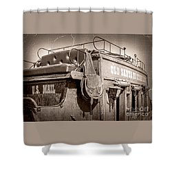 Old Santa Fe Stagecoach Shower Curtain