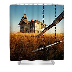 Old Savoy Schoolhouse Shower Curtain