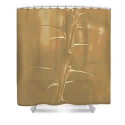 Old School Arizona Thorn Shower Curtain by Carolina Liechtenstein