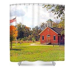 Old Schoolhouse-wildwood Park Shower Curtain