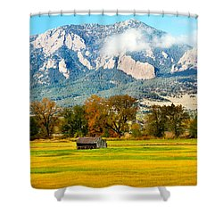 Old Shed Shower Curtain by Marilyn Hunt