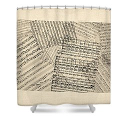 Old Sheet Music Map Of Colorado Shower Curtain by Michael Tompsett