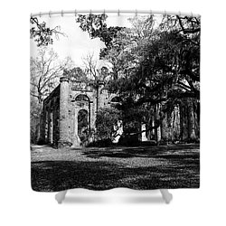 Shower Curtain featuring the photograph Old Sheldon Church  by Gary Wightman