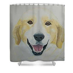 Shower Curtain featuring the painting Old Shep by Norm Starks