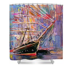 Old Ship 226 4 Shower Curtain by Mawra Tahreem