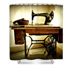 Old Singer Shower Curtain by Perry Webster