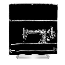Old Singer Sewing Machine Shower Curtain