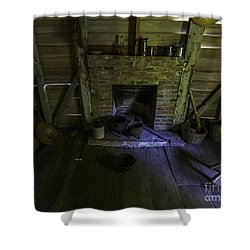 Shower Curtain featuring the photograph Old Slave Quarters by Ken Frischkorn