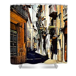 Old Spanish Street Shower Curtain