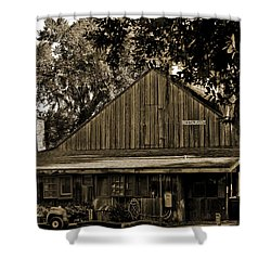 Old Spanish Sugar Mill Sepia Shower Curtain by DigiArt Diaries by Vicky B Fuller