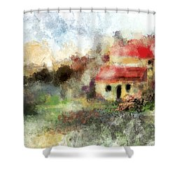 Old Spanish Village Shower Curtain by Jessica Wright