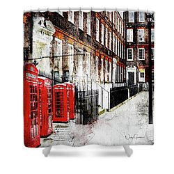 Old Square Shower Curtain