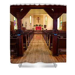 Old St. Barbara's Sanctuary Shower Curtain