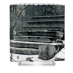 Old Stairs To Nowhere Shower Curtain by Jeff Severson