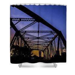 Old Steel Bridge Shower Curtain
