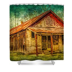Old Store Shower Curtain by Phillip Burrow
