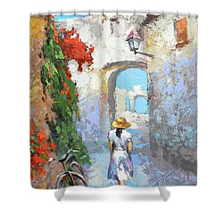 Old Street  Shower Curtain by Dmitry Spiros