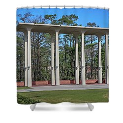 Shower Curtain featuring the photograph Old Student Union Arches by Gregory Daley  PPSA